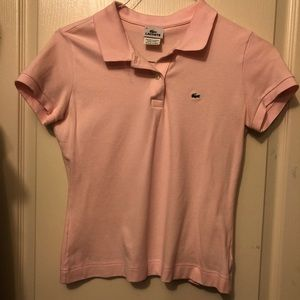 Light pink Lacoste collared shirt